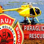Paraglider rescue. Maui Now graphic.
