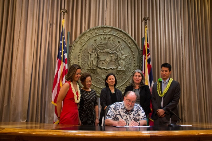 Senate Bill 2768 Signing Ceremony. Photo courtesy Office of the Governor, State of Hawaiʻi.