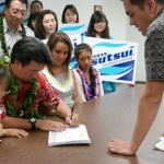 Lieutenant Governor Shan Tsutsui officially seeks reelection. Photo 5/29/14.