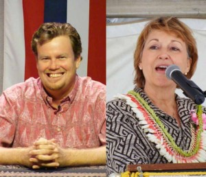 Rep. Angus McKelvey (left) and Sen. Roz Baker (right). File photos by Wendy Osher.