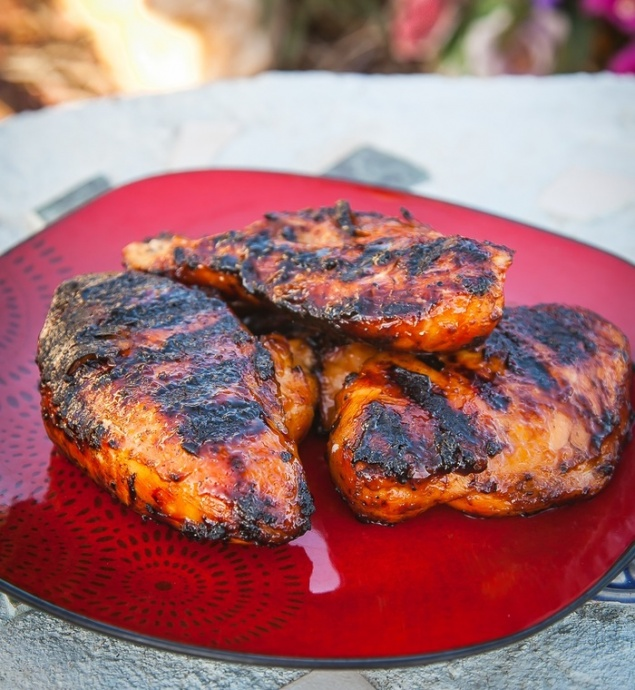 Chicken Breast Marinated and Grilled with Azeka's Sauce. Photo courtesy Bryan Kenji Azeka.