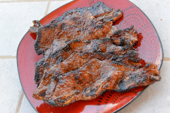 Hawaiian-Style Ribs made with Azeka's Hawaiian BBQ Sauce. Photo courtesy Bryan Kenji Azeka.
