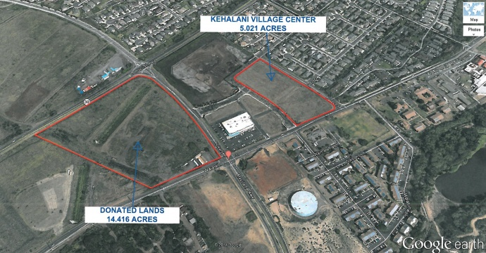 Map of potential Kehalani service center site.