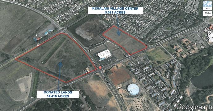 Map of potential Kehalani service center site.