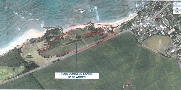 Map of potential Pāʻia site.