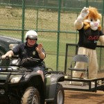 DARE Officer Tim Hodgens and Darren the DARE Lion. Photo courtesy Maui Police.