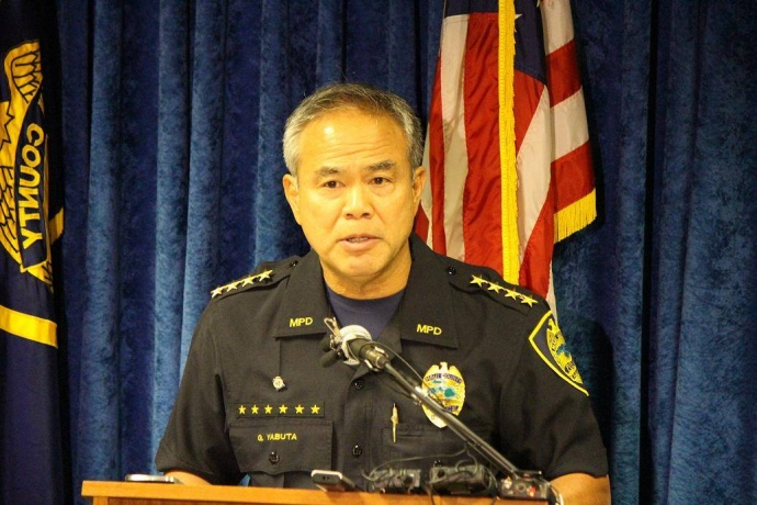 Maui Police Chief Gary Yabuta, photo by Wendy Osher.