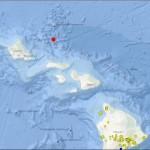 3.5 preliminary magnitude earthquake north of Molokaʻi.  Map courtesy USGS.