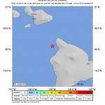 Hawaiʻi Island earthquake 5/14/14, map courtesy USGS.
