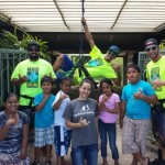 "Maui Zipline Company Crew: Dan Hiss, Keoki Lovato, Kaulana Bongolan shown here with Big Brothers Big Sister of Maui ""Littles"" and Kainoa Correa, School-Based Match Specialist. Courtesy photo."