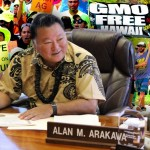 Mayor remains neutral on GMO debate. Maui Now montage.