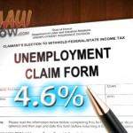 Maui County's unemployment rate fell to 4.6% in April. Maui Now graphic.