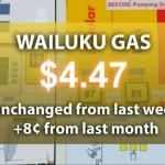 Wailuku gas, May 8, 2014.