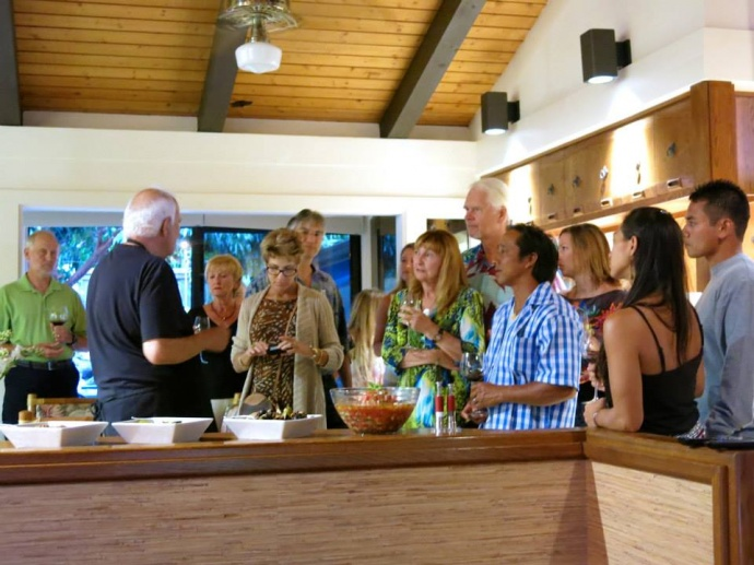 A scene from one of Chef Nabavi's previous cooking classes. Courtesy image