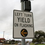 The flashing yellow arrow was installed at the Kahului corner of West Kamehameha and Kane Avenue, and means that a motorist should turn left with caution as they make sure to yield to oncoming traffic.