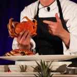 A chef demo from the 2013 Kapalua Food & Wine Festival. Courtesy image
