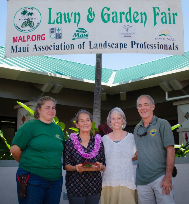 L&G Fair: MALP Vice-President Allison Wright, Masako Cordray, Maui Invasive Species Committee manager Teya Penniman, Maui County Environmental Coordinator Rob Parsons. Courtesy photo.
