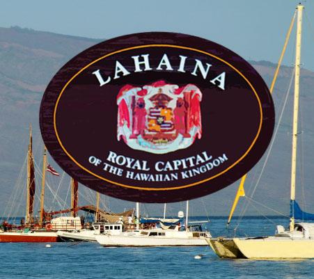 Lahaina, Maui. Maui Now graphic.