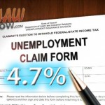 Maui County's unemployment rate fell to 4.7% in May. Maui Now graphic.