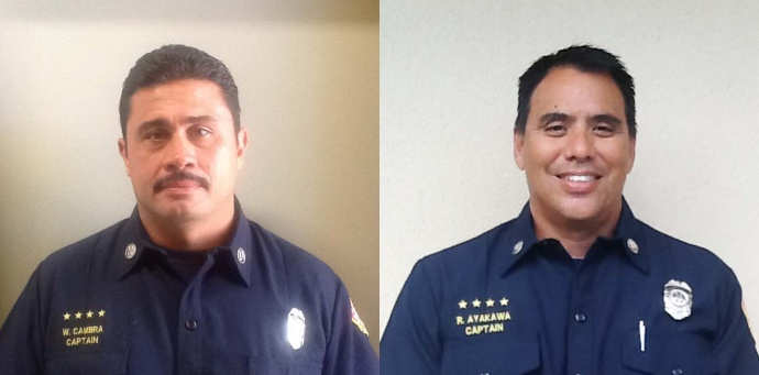 Wayne Cambra (left) and Ryan Ayakawa (right). Photos courtesy MFD.