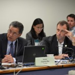 Photo courtesy of Senate Communications: Sen. Clayton Hee and Sen. Josh Green at the July 16, 2014 hearing.