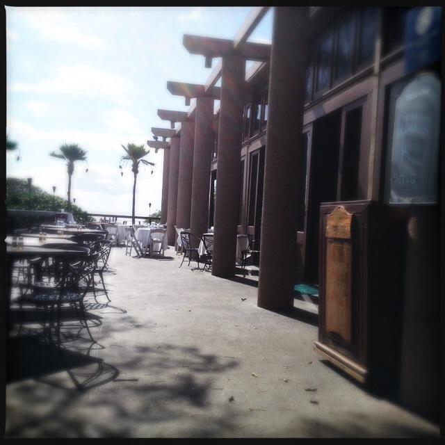 The front deck. Beware the birdies. Photo by Vanessa Wolf