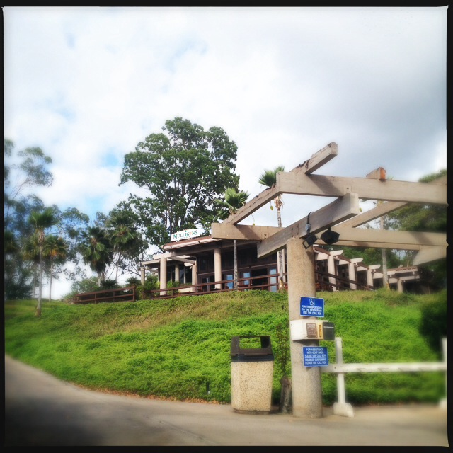 The restaurant sits on the Old Blue golf course. Photo by Vanessa Wolf