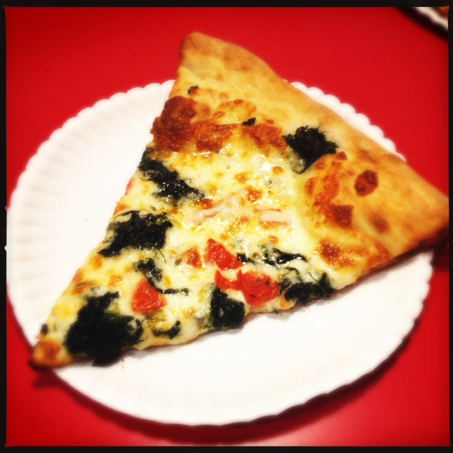 The Spinach and Tomato Slice. Photo by Vanessa Wolf