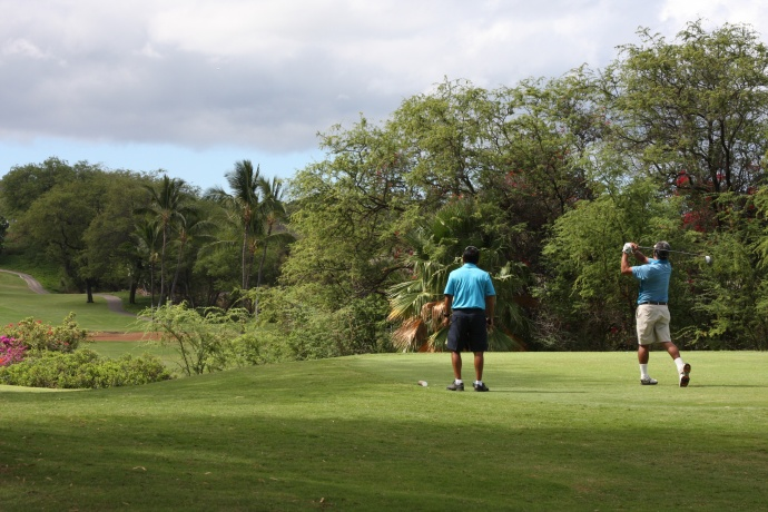 Photos of teams playing in UHMC's 24th Annual Golf Tournament. Photo Courtesy University of Hawaiʻi Maui College.