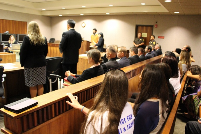 Steven Capobianco arraignment and plea.  July 15, 2014. Photo by Wendy Osher.