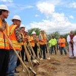 Groundbreaking of the Central Maui Regional Sports Complex, July 31, 2014.  Photo by Wendy Osher.