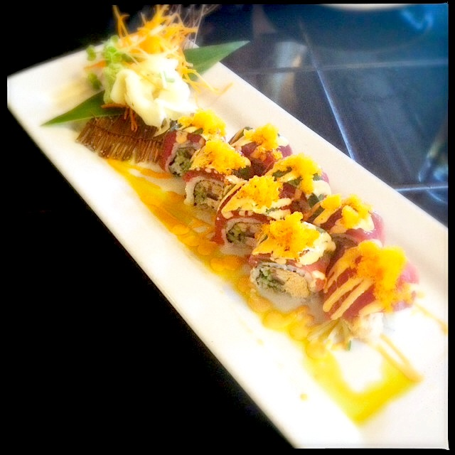 "A specialty roll Three's referred to as the ""Spicy Red Dragon."" Photo by Vanessa Wolf"