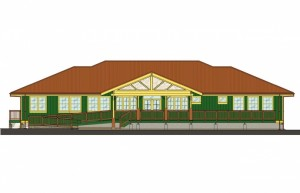 Lānaʻi Community Health Center rendering.