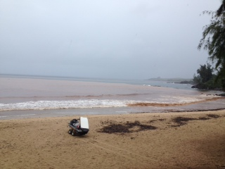 Brown water at Honokahua. Photo courtesy State Department of Health.