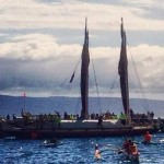 Maui's Voyaging Canoe Launches From Lahaina