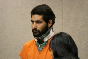 Steven Capobianco in court for his arraignment and plea hearing. Photo by Wendy Osher.