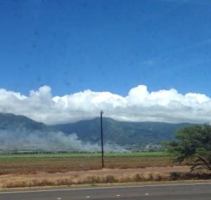 Fires near the Dunes at Maui Lani Golf Course. Photo courtesy Maura Sindel.