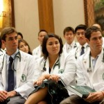 Pictured, members in the MD Class of 2015 at their White Coat Ceremony. Courtesy photo JABSOM.