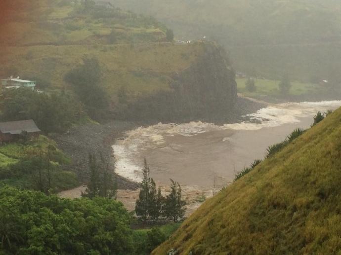 Kahakuloa Valley flooding, July 20, 2014.  Photo courtesy Alisha Coston-chung.