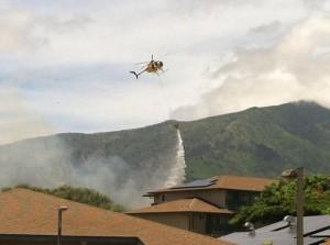 Fires near the Dunes at Maui Lani Golf Course. Photo courtesy Bino Melendez Jr.