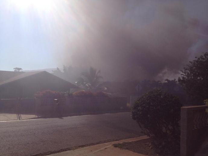 Oe Steet fire, July 18, 2014. Photo courtesy Kimanzi Constable.