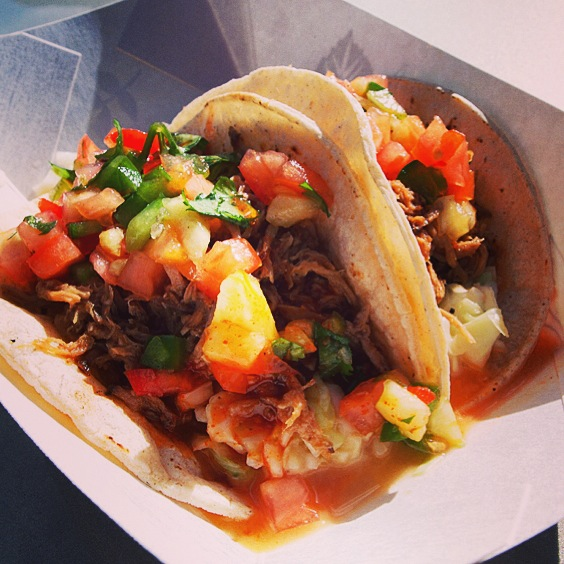 The Pulled Pork Tacos. Photo by Vanessa Wolf