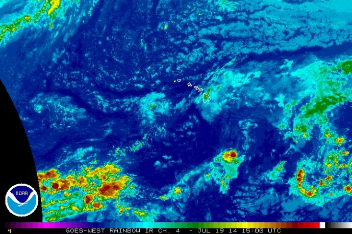 Tropical Depression Wali, 7/19/14. Image courtesy NWS and NOAA.