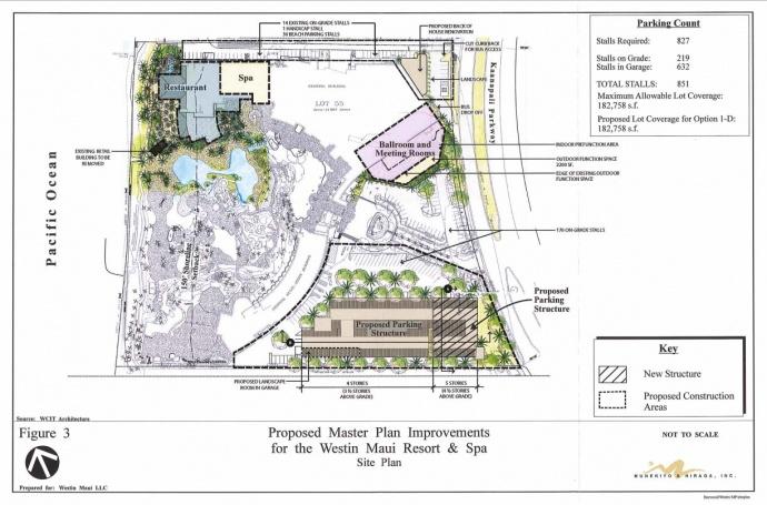 Westin Maui Resort & Spa, proposed master plan improvements. Image courtesy Munekiyo & Hiraga, Inc./ Draft Environmental Assessment, DOH.