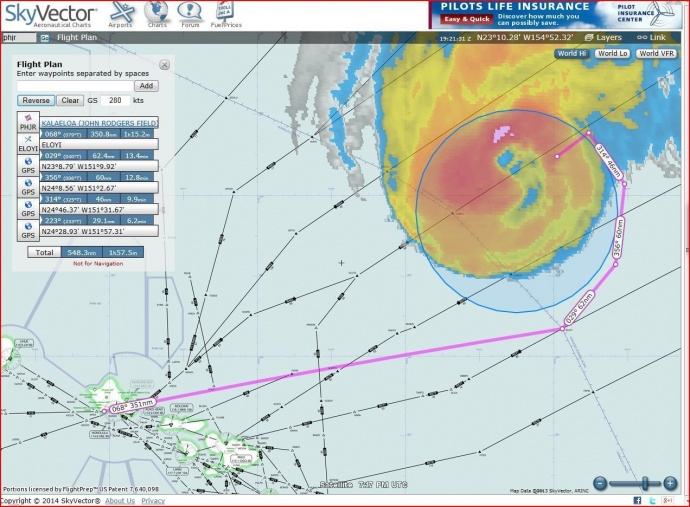 This image depicts the Coast Guard's search area for sailing vessel Walkabout Aug. 10 2014. The Coast Guard is coordinating the rescue of 42-foot sailboat Walkabout caught in Hurricane Julio 414 miles northeast of Oahu. Walkabout is disabled and taking on water with three people aboard. (U.S. Coast Guard courtesy photo)