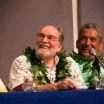 Aloha+ Challenge: Governor Neil Abercrombie (left) and Hawaiʻi County Mayor Billy Kenoi. Courtesy photo, Office of the Governor. .