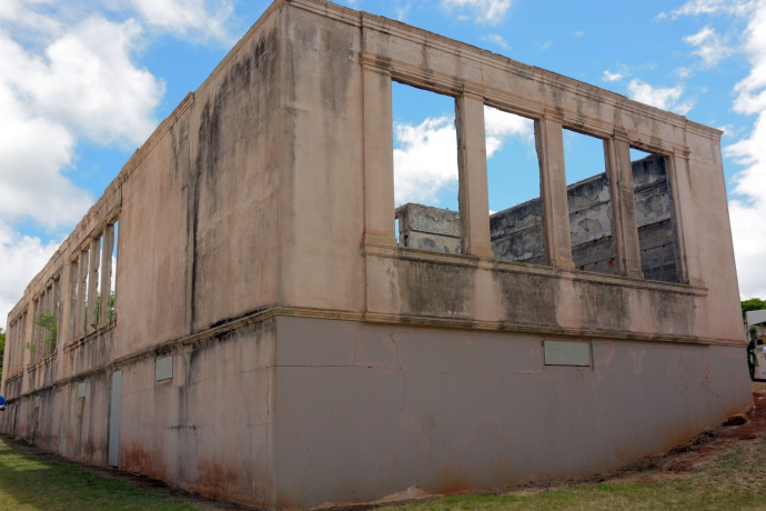 Old Maui High School campus at Hamakuapoko. Photo by Ryan Piros - County of Maui.