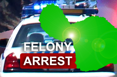 Felony arrest. Maui Now graphic by Wendy Osher.