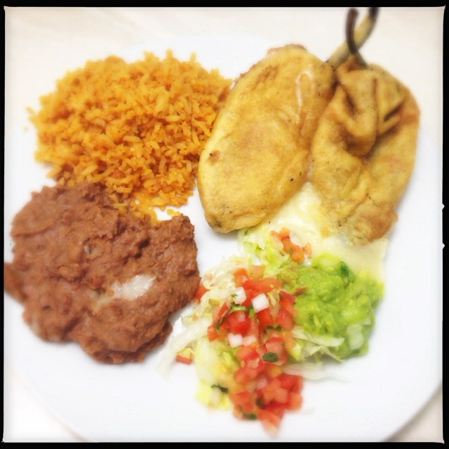 The Rellenos as prepared by the Queen K location. Photo by Vanessa Wolf