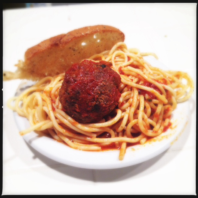 We suffered a meatball casualty before capturing them both in all their glory. Photo by Vanessa Wolf